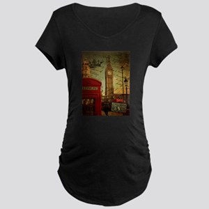 vintage London UK fashion Maternity T-Shirt