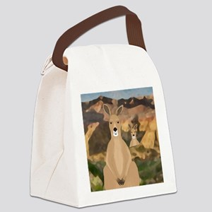 Kangaroos Canvas Lunch Bag