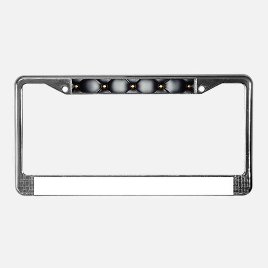 Leather Black License Plate Frame