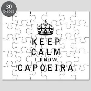 Keep Calm I Know Capoeira Puzzle