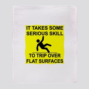 Trip Over Flat Surfaces Throw Blanket