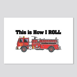 How I Roll (Fire Engine/Truck) Postcards (Package