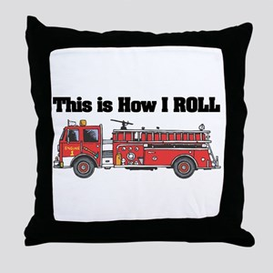 How I Roll (Fire Engine/Truck) Throw Pillow