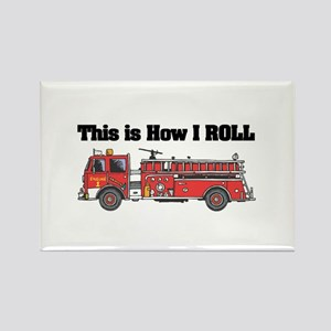 How I Roll (Fire Engine/Truck) Rectangle Magnet