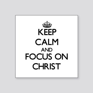 Keep Calm and focus on Christ Sticker