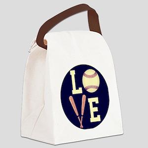 Love Baseball (Retro) Canvas Lunch Bag