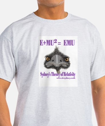 Max the Emu in Sydney's Theory of Relativity T-Shi