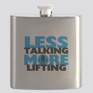 Less Talking More Lifting Flask