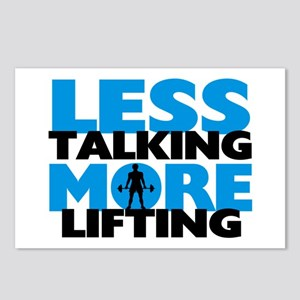 Less Talking More Lifting Postcards (Package of 8)