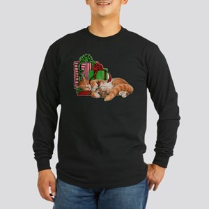 Cute Cat, Mouse and Christmas Presents Long Sleeve
