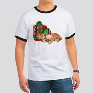 Cute Cat, Mouse and Christmas Presents T-Shirt