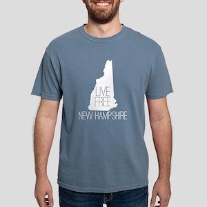 New Hampshire Live Free Mens Comfort Colors Shirt