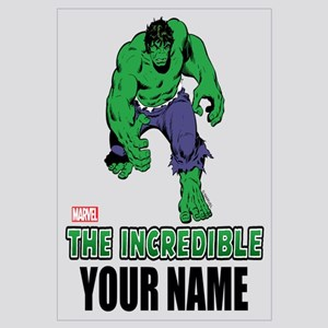 Personalized Incredible Hulk Wall Art