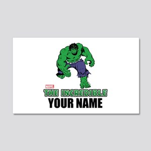 Personalized Incredible Hulk Wall Decal