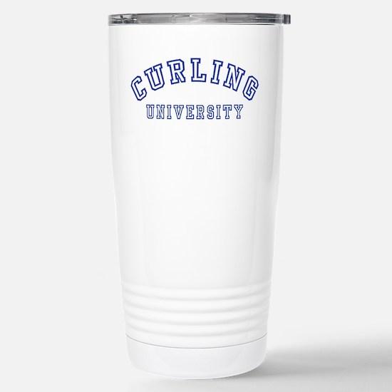 Curling University Stainless Steel Travel Mug