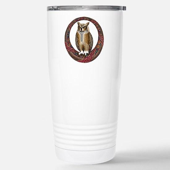Celtic Owl Stainless Steel Travel Mug