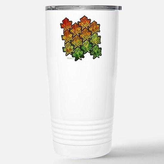Celtic Leaf Tesselation Stainless Steel Travel Mug