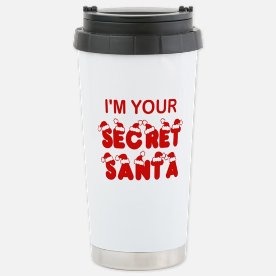 Secret Santa Stainless Steel Travel Mug
