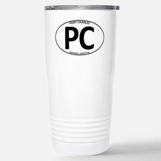 Port Charles - PC Oval Stainless Steel Travel Mug