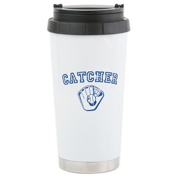 Catcher - Blue Stainless Steel Travel Mug