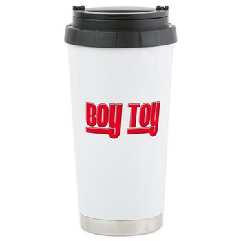 Boy Toy - Red Stainless Steel Travel Mug
