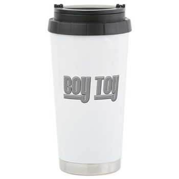 Boy Toy - Gray Stainless Steel Travel Mug