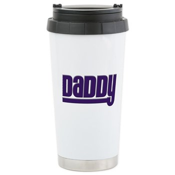 Daddy - Purple Stainless Steel Travel Mug