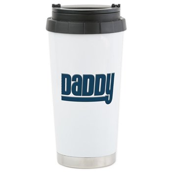 Daddy - Blue Stainless Steel Travel Mug