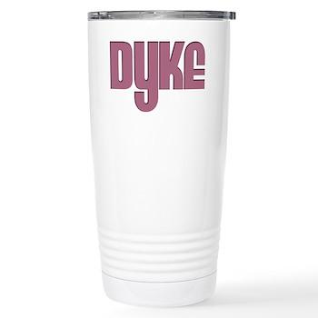 Pink Dyke Stainless Steel Travel Mug