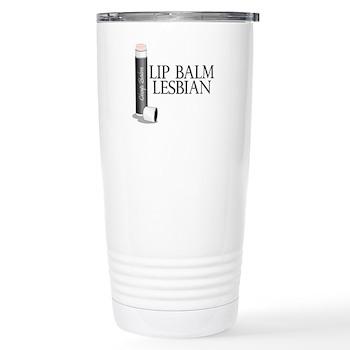 Lip Balm Lesbian Stainless Steel Travel Mug
