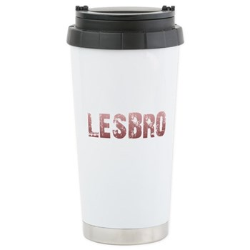 Red Lesbro Stainless Steel Travel Mug