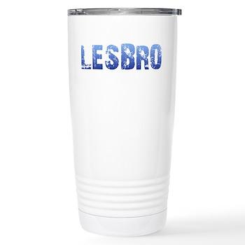Blue Lesbro Stainless Steel Travel Mug