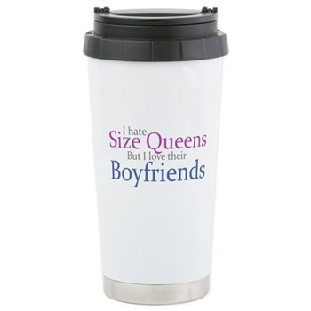 I Hate Size Queens Stainless Steel Travel Mug
