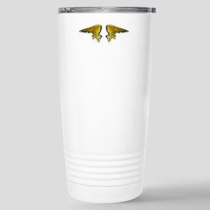 Gold Angel Wings Stainless Steel Travel Mug