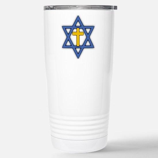 Star of David with Cross Ceramic Travel Mug