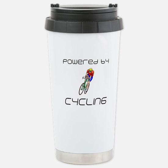Powered By Cycling Stainless Steel Travel Mug