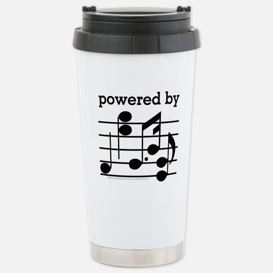 Powered By Music Stainless Steel Travel Mug