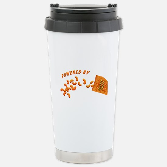 Powered By Cheesy Puffs Stainless Steel Travel Mug