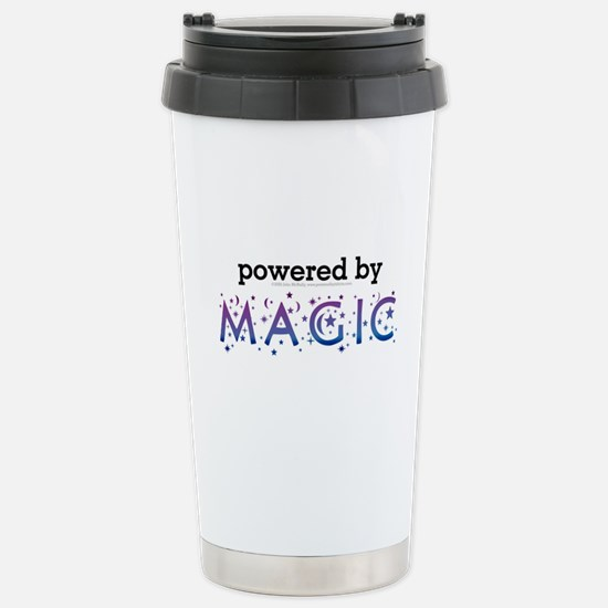 Powered By Magic Stainless Steel Travel Mug