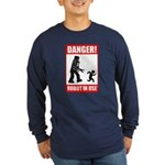 Long Sleeve Navy Blue T-Shirt