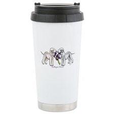 Bedlington Terriers with Ribbon Stainless Steel Tr