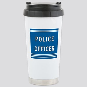 Police Officer Blues Stainless Steel Travel Mug