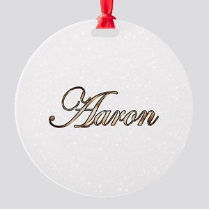 Gold Aaron Round Ornament