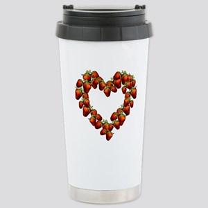 strawberry-heart Stainless Steel Travel Mug
