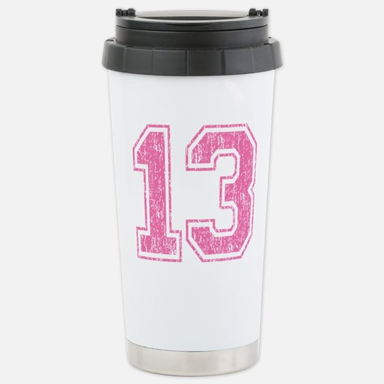 Retro 13 Number Stainless Steel Travel Mug