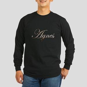 Gold Agnes Long Sleeve Dark T-Shirt