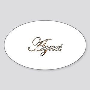 Gold Agnes Sticker (Oval)