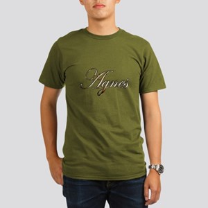 Gold Agnes Organic Men's T-Shirt (dark)