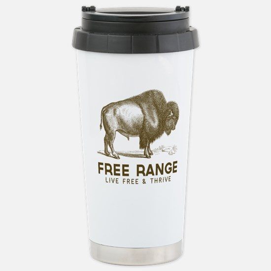 Free Range Stainless Steel Travel Mug