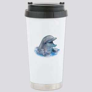 Happy Dolphin Stainless Steel Travel Mug